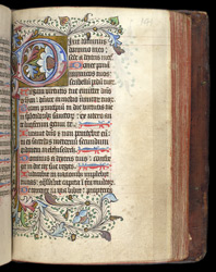Psalm 109 (110), in a Psalter and Prayerbook